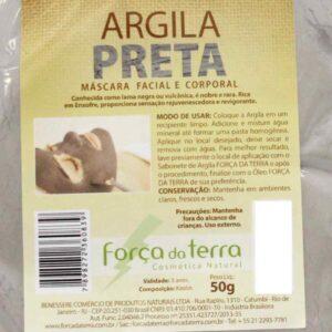 Argila Preta de 50 g - Força da Terra