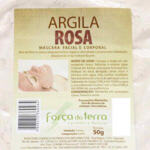 Argila Rosa de 50 g - Força da Terra