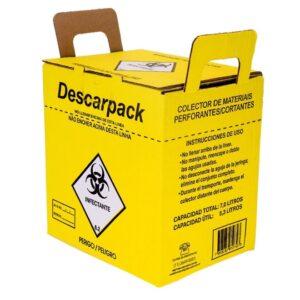 Caixa Coletora de Material Perfuro Cortante - 7Litros